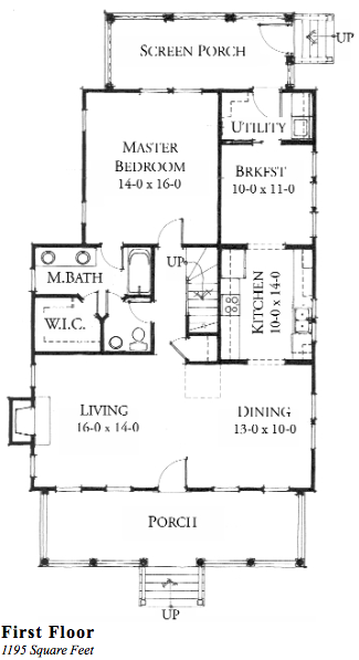 House plan coosaw river cottage c0030 by allison ramsey for River cottage house plans