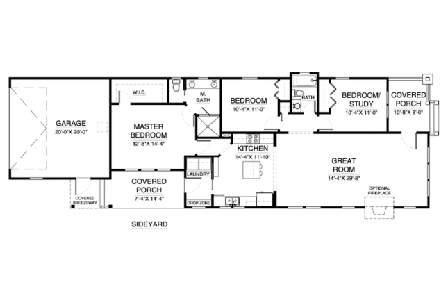 House Plan 900-7 designed by C3 Studio - available via Houseplans.com