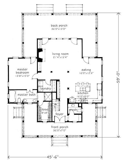 Four Gables SL 1832 a Southern Living Plan designed by Mitchell Ginn