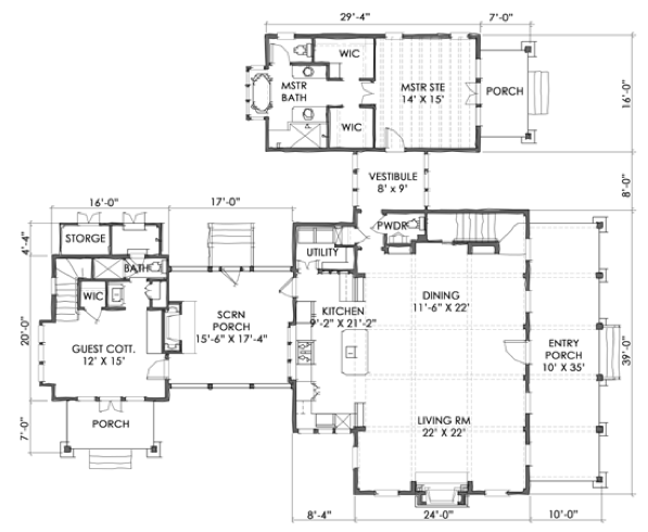 House plan moser design group tnh lc 11a coastal for 11 brunel court floor plans