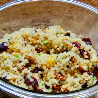Thanksgiving Recipe... Couscous with Cranberries and Pecans!