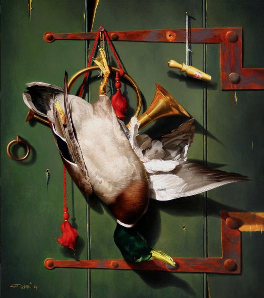 """He Got Game by Scott Royston 26x22"""" Oil/Linen"""