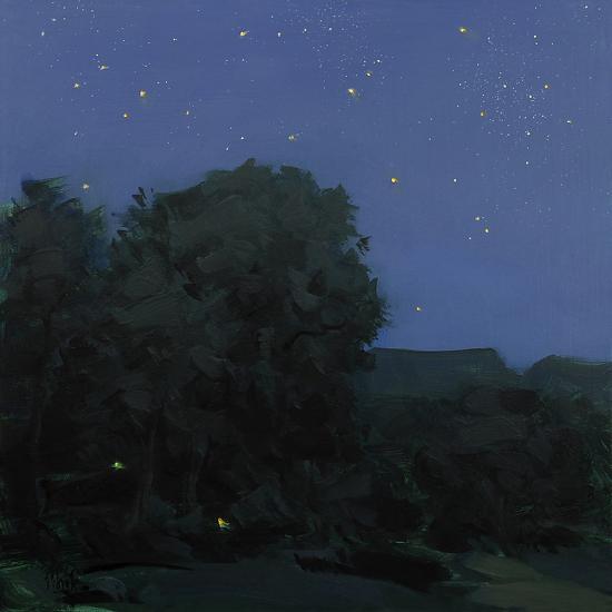 "Starry Night by Thomas Torak 16x16"" oil on panel"