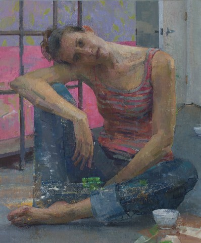 Pink and Grey by Zoey Frank 36x30""