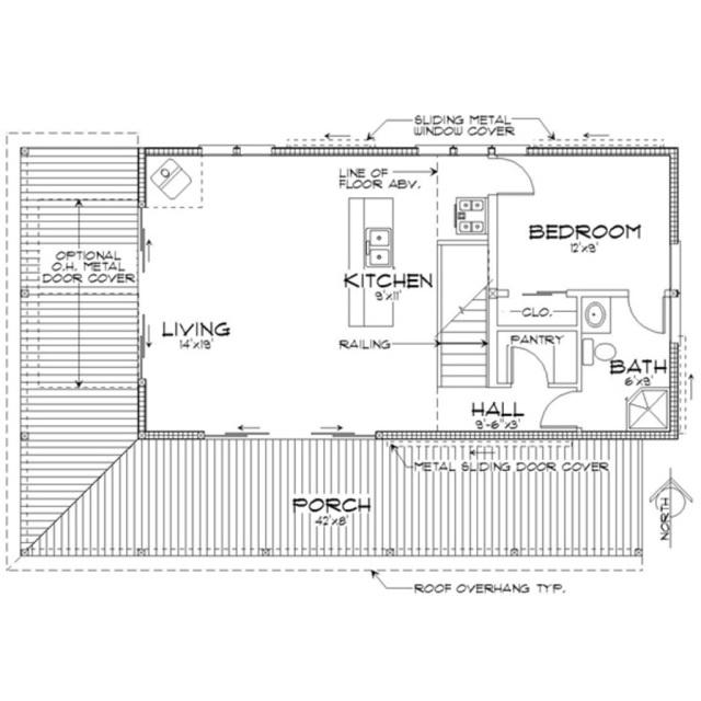 Cabin houseplan 452-3 Houseplans.com