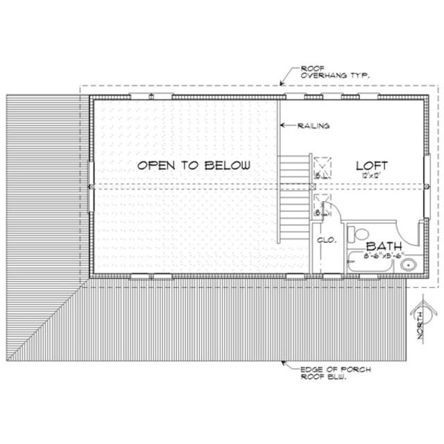 Houseplan 452-3 - Houseplans.com Upstairs