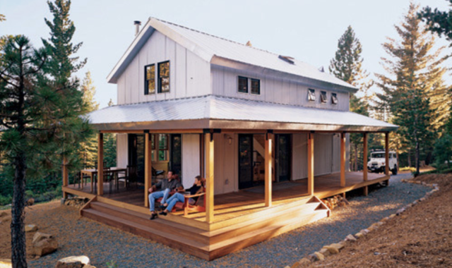 Plan 452-3 Cabin Plan via Houseplans.com Design of this signature plan is by David Wright