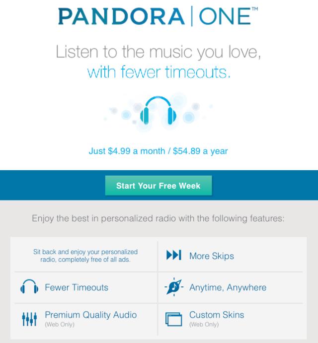 Image via: Pandora.com