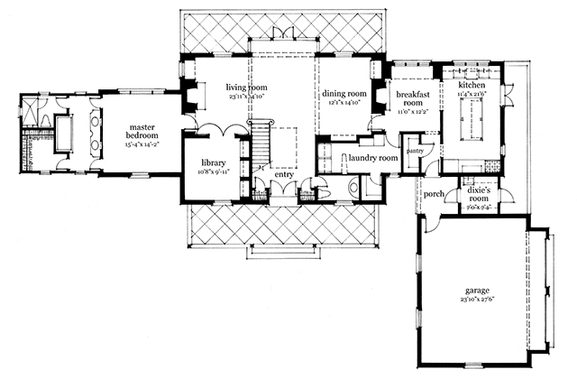 Martin House Plan SL-1863 designed by Bill Ingram for Houseplans.SouthernLiving.com