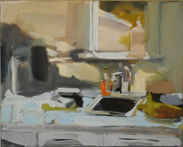 """Sink by Lisa Daria Kennedy Acrylic/Oil  36x40"""""""