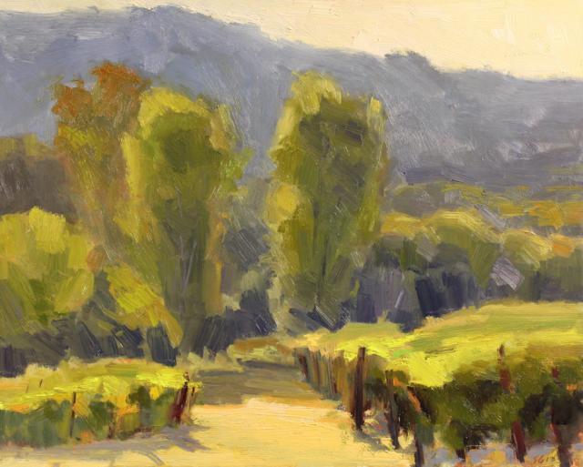"""Williamette Valley Vineyard by Scott Gellaty 16x20"""" Oil"""