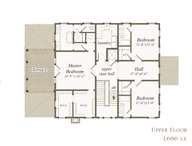 House plan 263 bohicket st by our town plans for Our town house plans