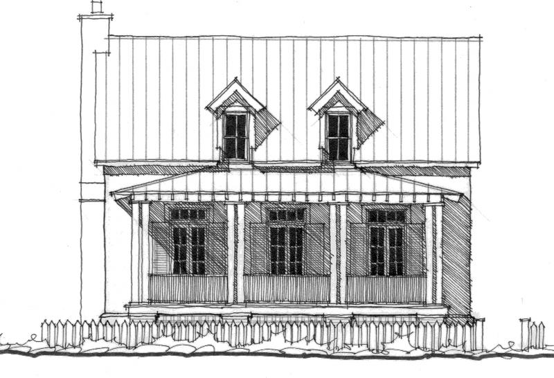 House plan southside cottage by allison ramsey architects - Allison ramsey architects ...