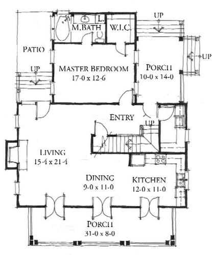 House plan southside cottage by allison ramsey architects Allison ramsey house plans