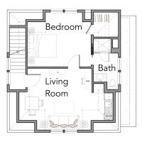 House Plan: Fox Sparrow #6 Plan by Flatfish Island Designs (and the garage plan!)