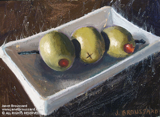 """Olives on the Side by Janet Broussard 9x12"""""""