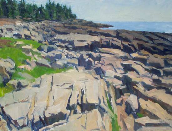 """Morning on the Coast by Jerry Weiss 30x40"""""""