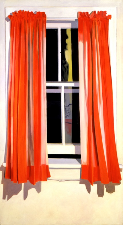 Night Window - Red by Lois Dodd 1972  66x36""