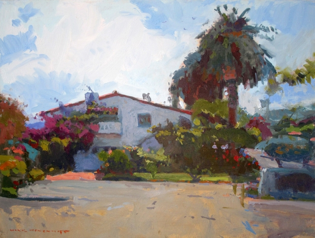 "Spanish Colonial House by Mark Kerckhoff 12x16"" Oil on Panel"