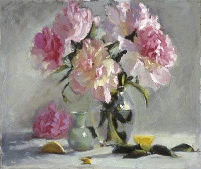 "Fresh Peonies by Nancy Carroll 11x14"" Oil"
