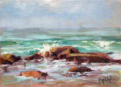 Low Tide Morning by Faye Wyles