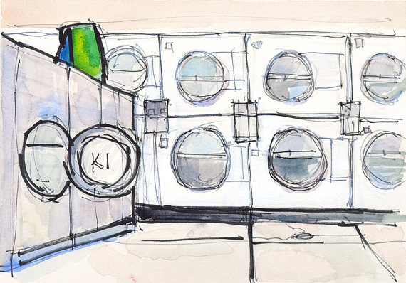 The Laundry Scene by Kevin Inman