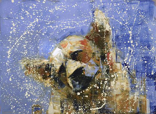 Shake (Blue Sky) by Rebecca Kinkead 33x45