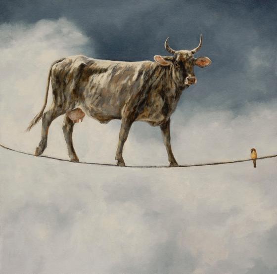 Balancing Act by Sandra Stevens 20x20 Oil