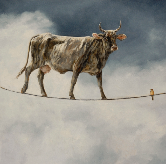 Balancing Act by Sandra Stevens 20x20 Oil