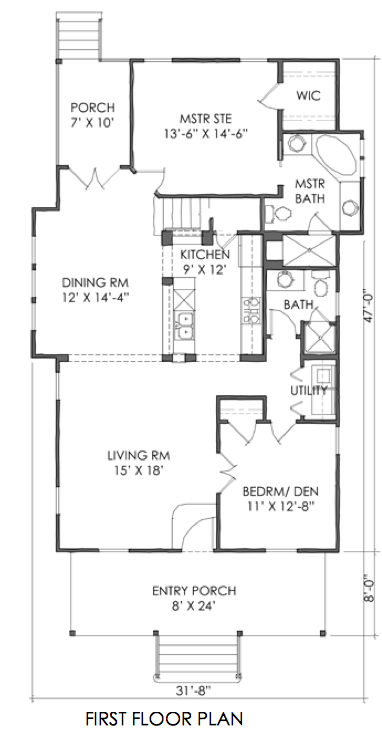 House Plan The Tnh B 04a Plan By Moser Design Group