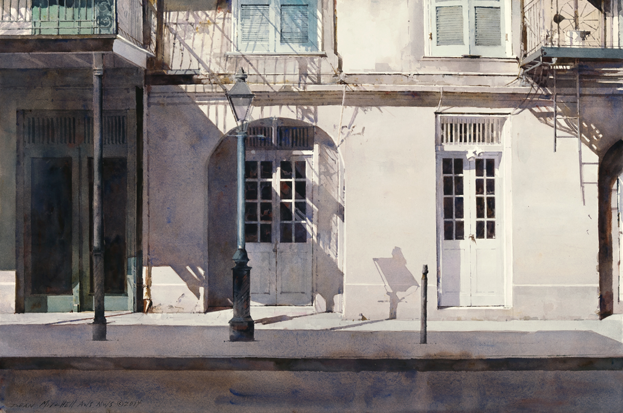 "Morning in the Quarter by Dean Mitchell  20x30"" Watercolor"