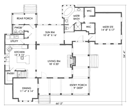 House Plan Tnh Lc 10a By Moser Design Group