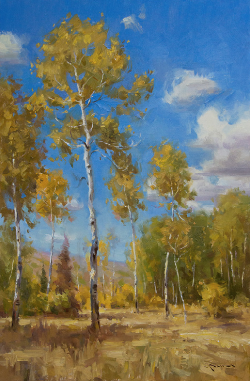 "Autumn Blue by Mitch Baird 24x16"" Oil"
