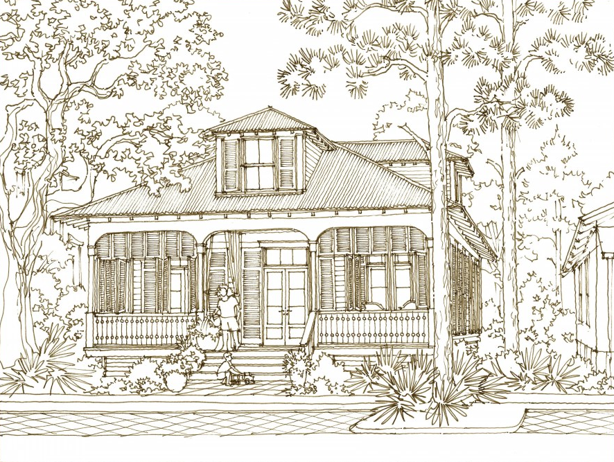 House Plan Cape Sans Blas By Our Town Plans