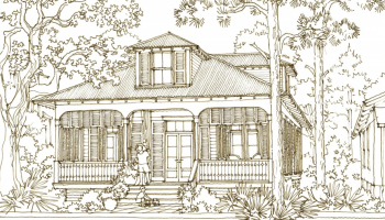 Check out the Aiken Street House Plan by Our Town Plans    House Plan  Cape Sans Blas by Our Town Plans