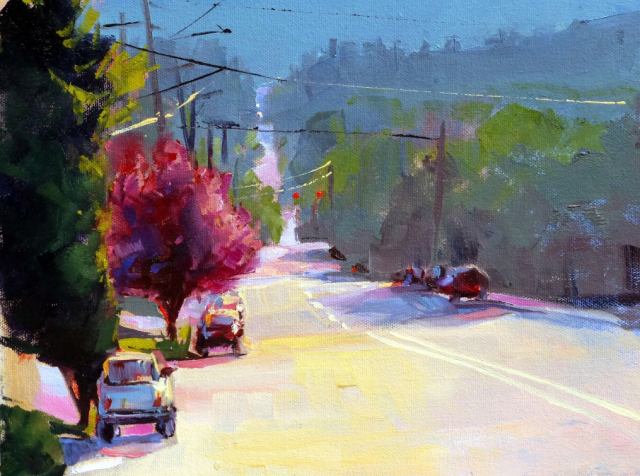 SE Scott Drive by Jacob Tarazoff 9x12 Oil