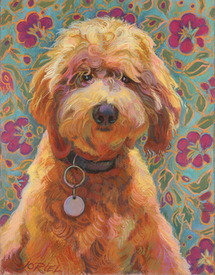 "Lucky by Jane Oriel 18x14"" Pastel on Paper"