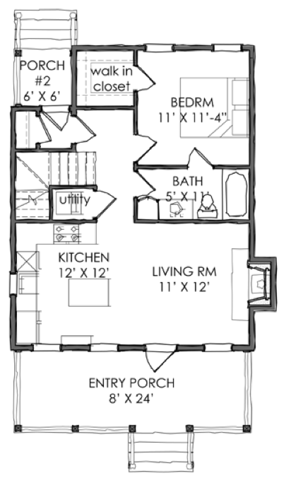 House Plan TNH-PC-12A by Moser Design Group