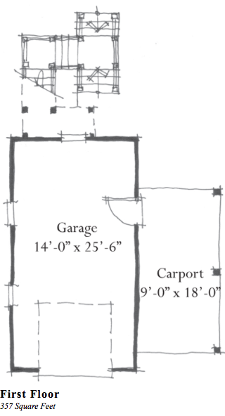 Garage guest house plan g0063 by allison ramsey architect for Garage guest house floor plans