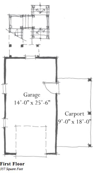 Garage/Guest G0063 by Allison Ramsey Architect