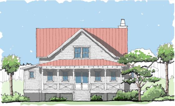 Compass Cove plan by Flatfish Island Designs