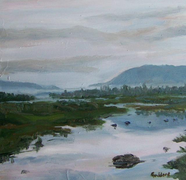 Shari Goddard Waiting for Dusk | ArtFoodHome.com