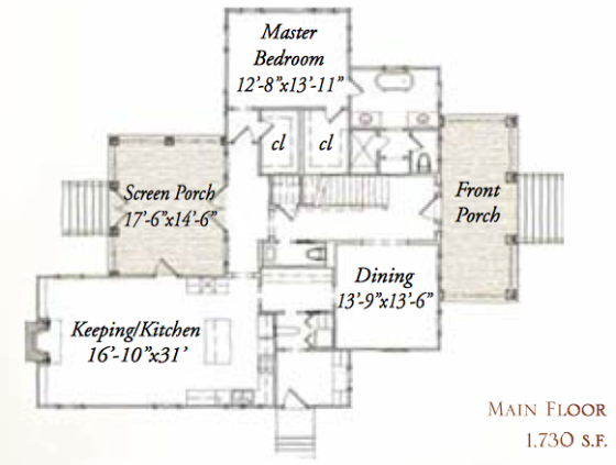 House plan 244 tall oak road by our town plans for Our town house plans