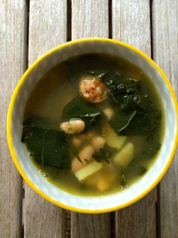 Kale Sausage & White Bean Soup with Potato