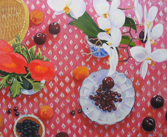 Jane Dahmen Cherries Plums & Orchid