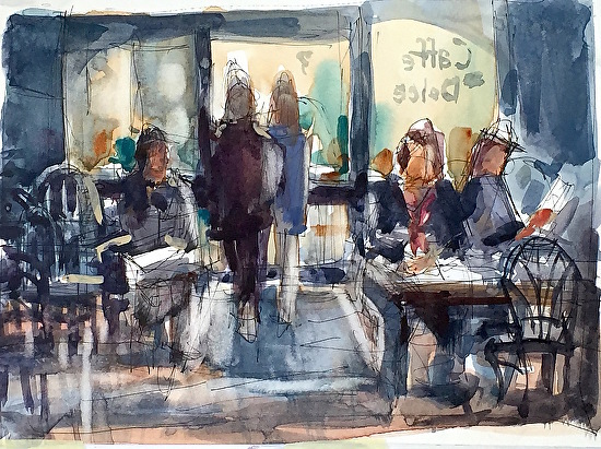 Cafe by Sarah Yeoman