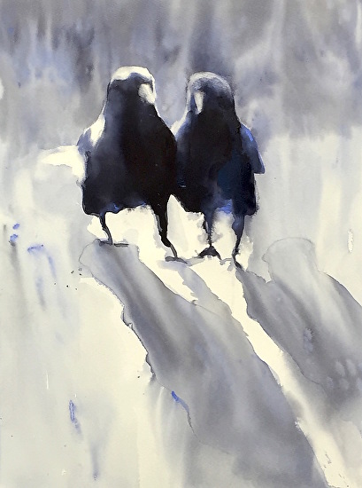 Morning Crows by Sarah Yeoman
