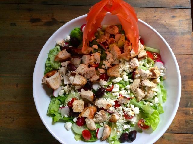 Snapi and a nice big Greek Salad