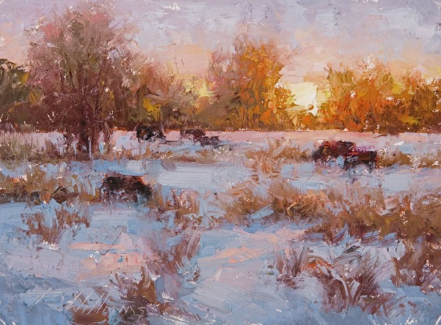 Winter Sunset 3 by Todd Williams