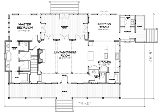 House Plan  Abbeville by Our Town Plans   ArtFoodHome com Abbeville   Our Town Plans Main